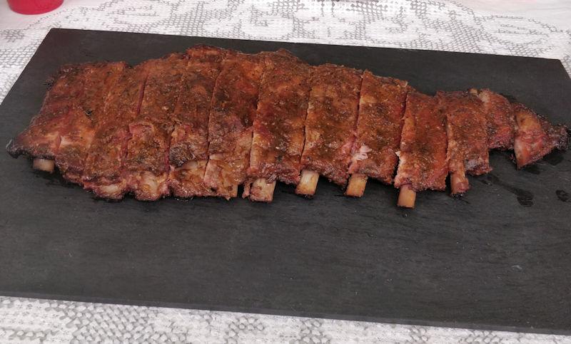 Cabecera de la entrada de Costillas BBQ de cerdo